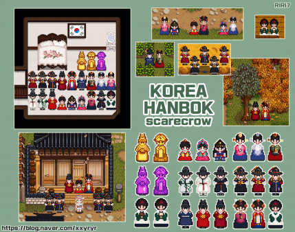 Korea Hanbok Scarecrow Stardew Valley Hanbok Scarecrow