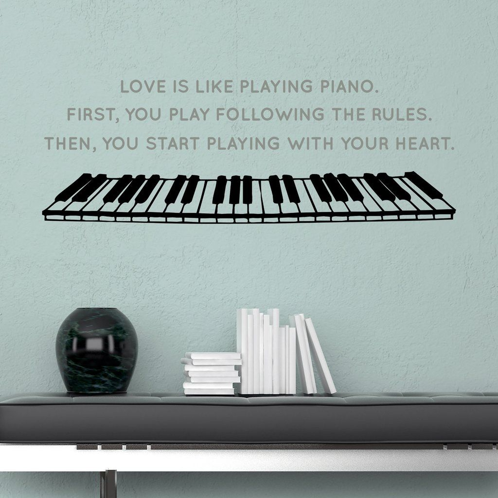 Piano Love - Dee-cal Frenzy Wall Decor
