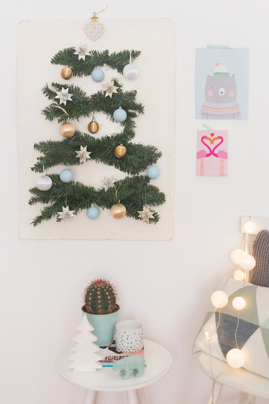 save this holiday diy to make your own stylish wall tree deco noel projets