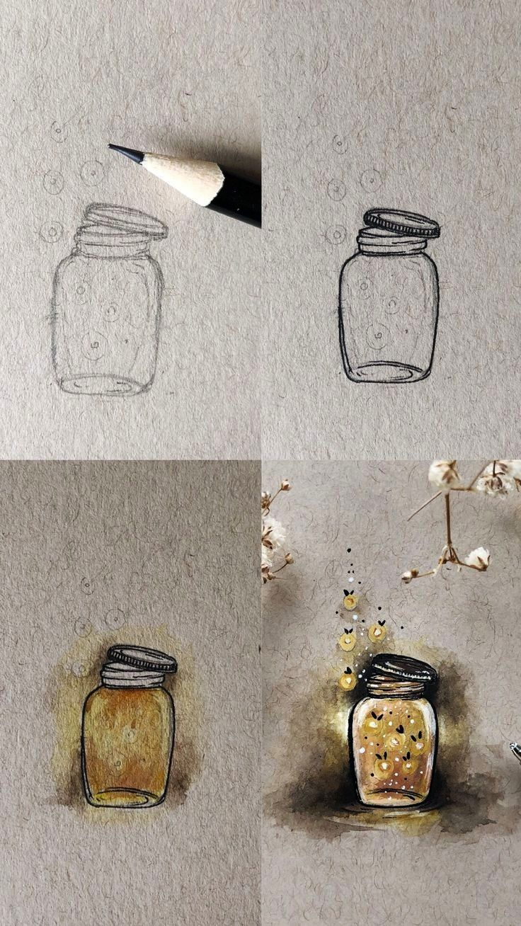 Mini Tutorial  chelsea Firefly Mini Tutorial Fireflies in a jar illustration mini tutorial with step by step process photos This illustration was done using watercolours...