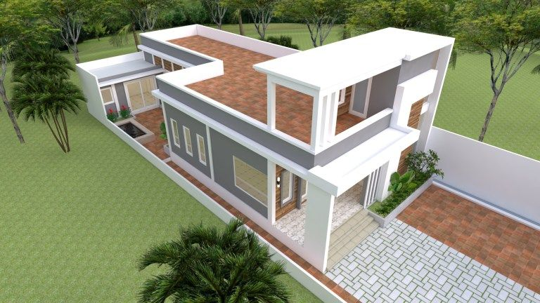 Simple And Space Saving Three Bedroom Modern House Plan