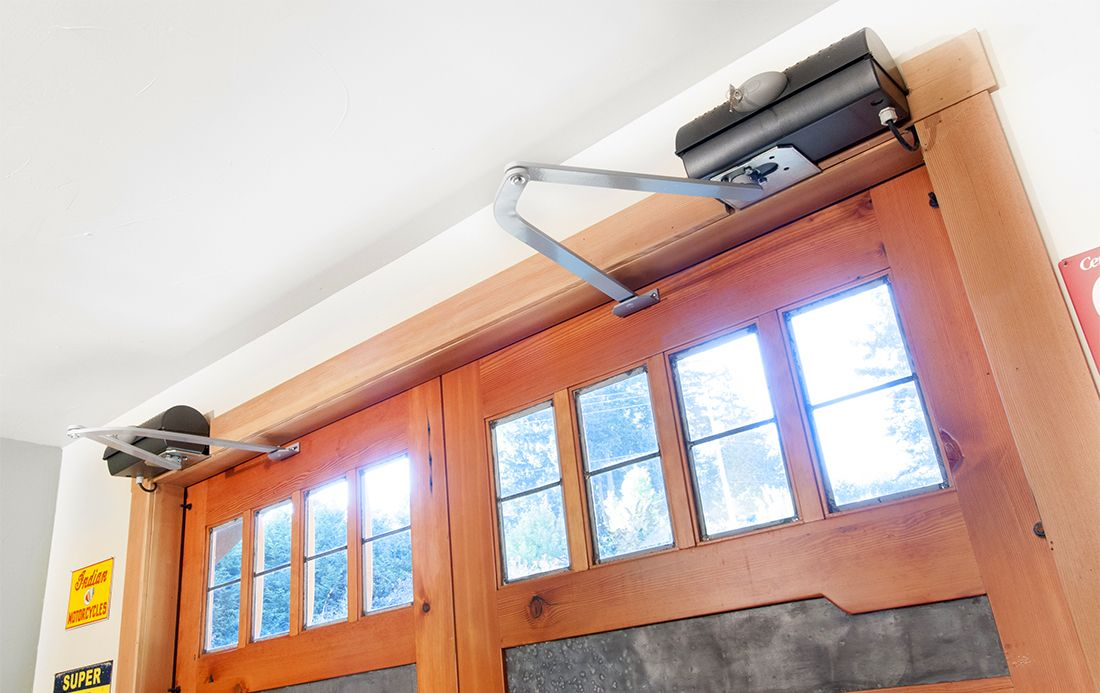 The Franklin Autoswing Operates Quietly And Reliably Automatic Garage Door Opener Pole Barn Sliding Out Swing Openers