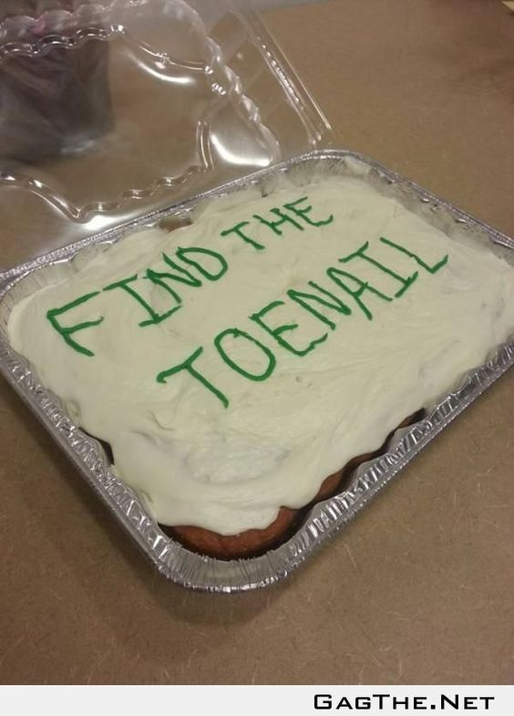 LMFAO  This is how you keep a cake to yourself!  OMFG.
