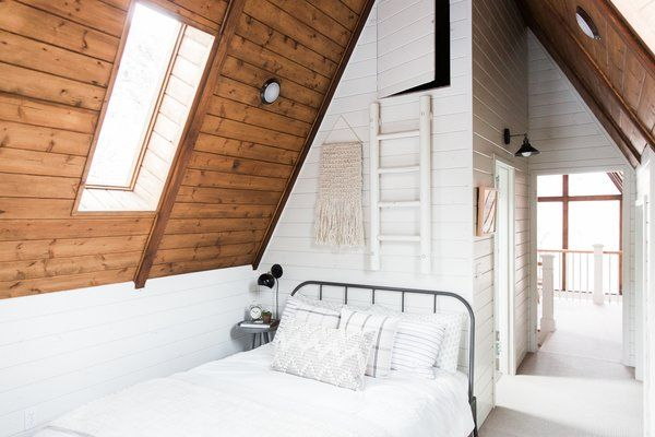 Dwell - Before and After: An A-Frame Cabin Boasts Serious Scandinavian Vibes