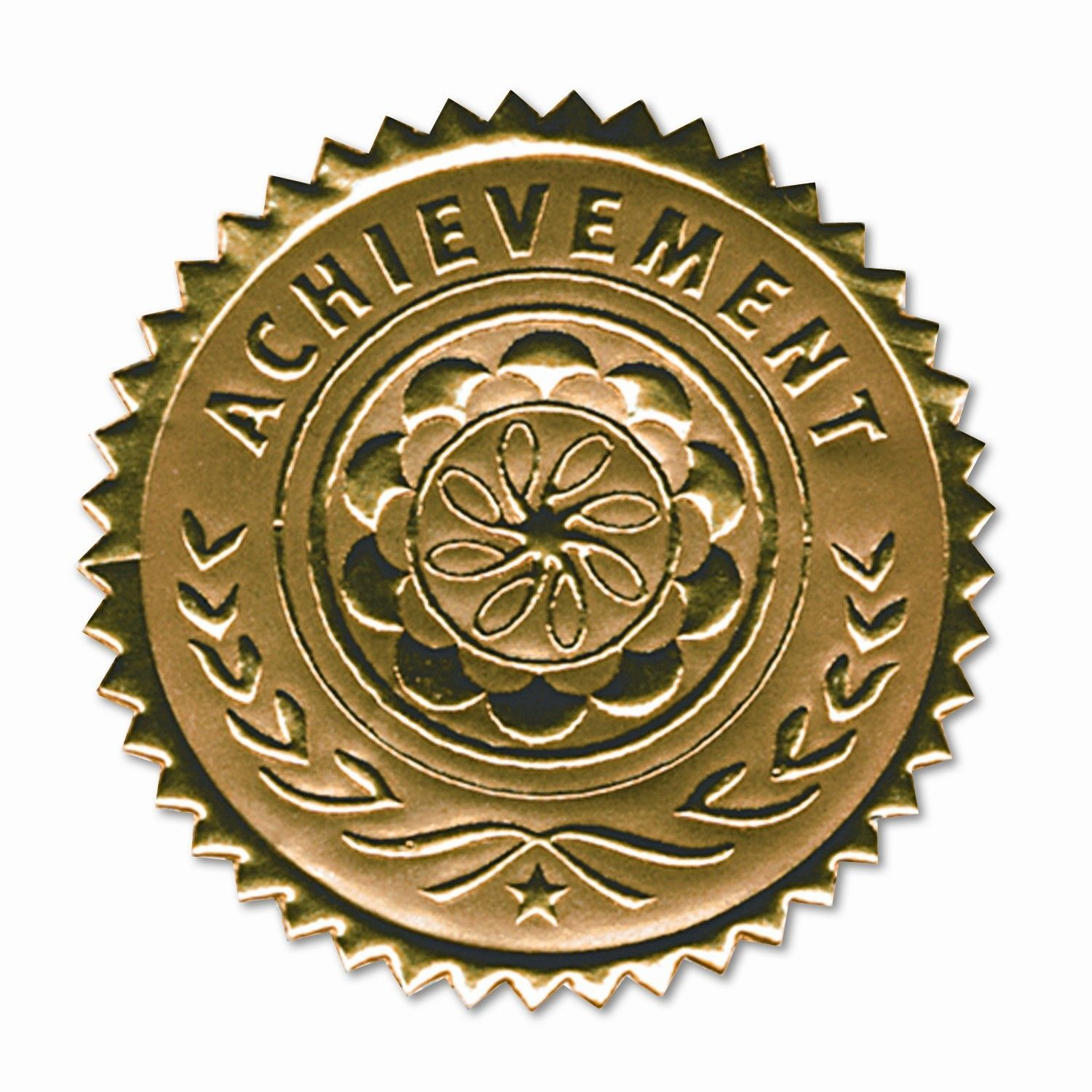 2 Inch Academic Excellence Embossed Gold Foil Certificate Seals 102 Count Self Adhesive
