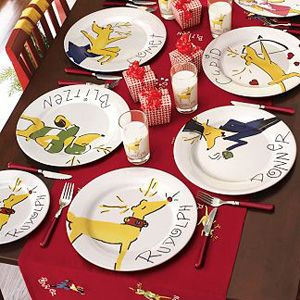 #Rudolph Dinner Plates by Pottery Barn Kids & Rudolph Dinner Plates by Pottery Barn Kids | Holiday Decor:Rudolph ...