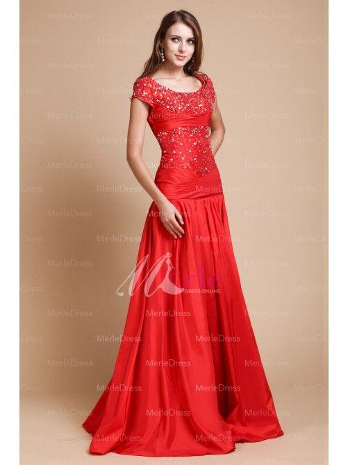 Lady dresses elegant evening