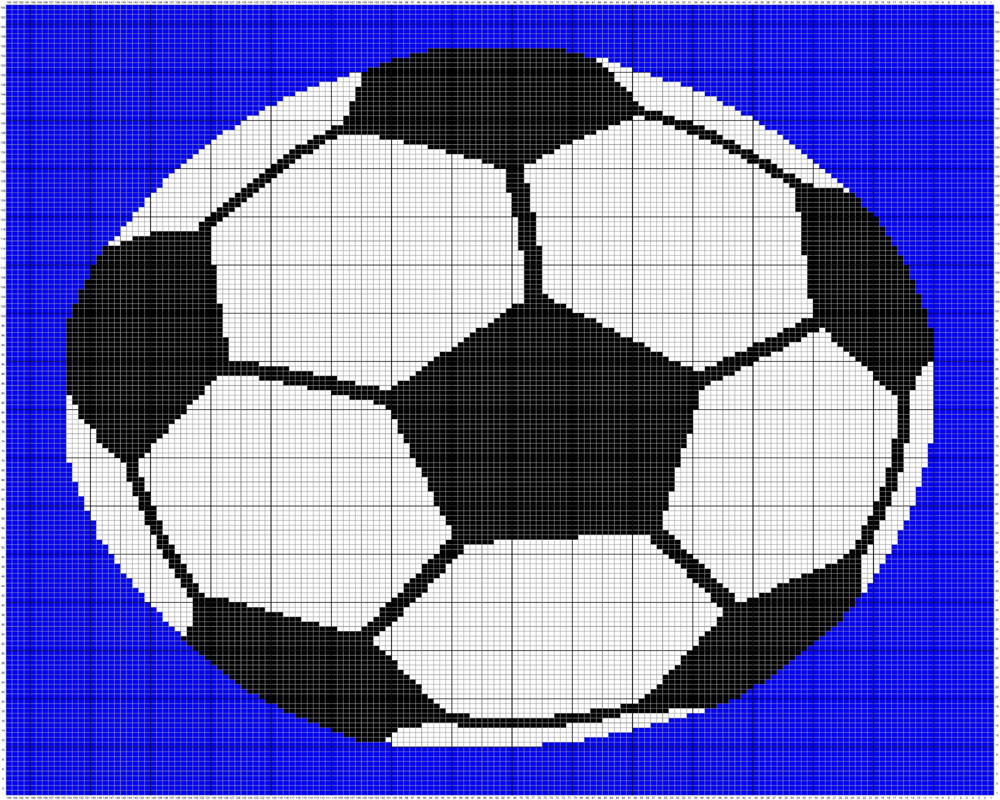 Soccer Ball Tapestry Crochet Afghan Pattern Written And Graph