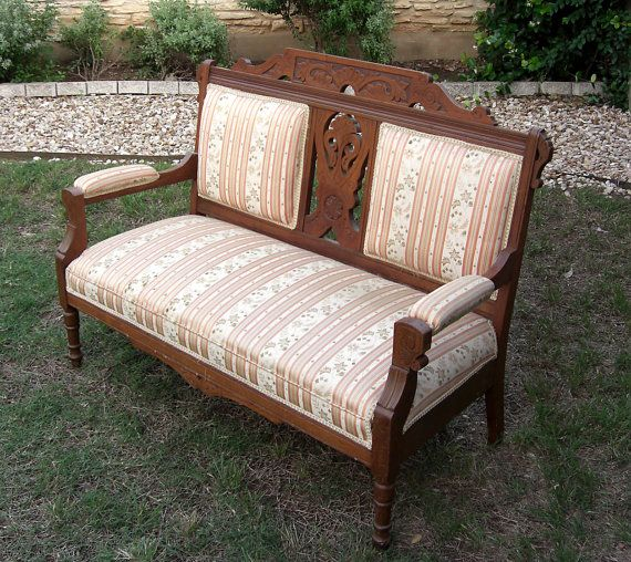Antique Eastlake Settee By Successionary On Etsy 297 99