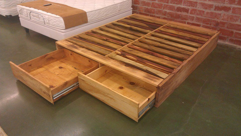 Bed frame and drawer combo! Talk about maximizing your space. #diy ...
