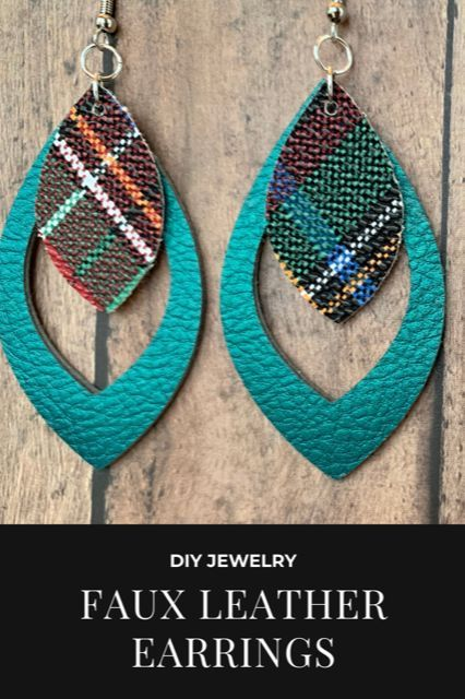 Photo of DIY Earrings | Cut faux leather on your Cricut Explore to make earrings
