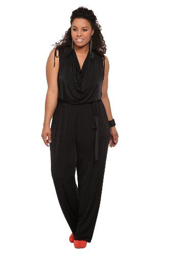 ed21b6954a6 Torrid Plus Size Black Ruched Sleeveless Jumpsuit  64.50 - WANT WANT WANT!