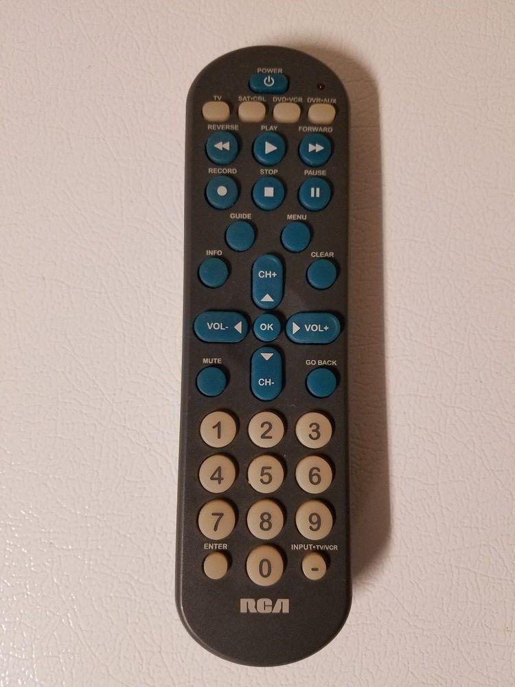 Rca Rcr4258 4 Device Big Button Universal Remote Control Tested