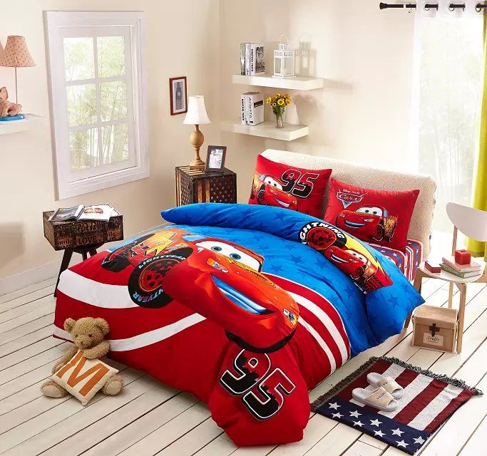 4e04758c406 Blue And Red Disney Cars Comforter Set Cheap Bedding Sets | Bedding ...