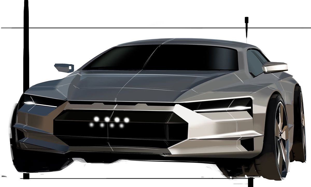 Audi Concept Demo At Cds On Behance Hot Sketches Pinterest