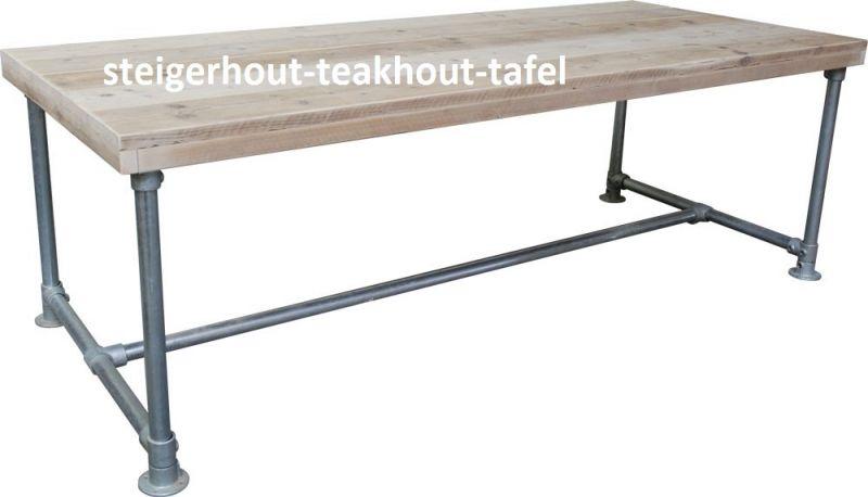 Steigerbuis Tafel Onderstel : Steigerbuis tafel