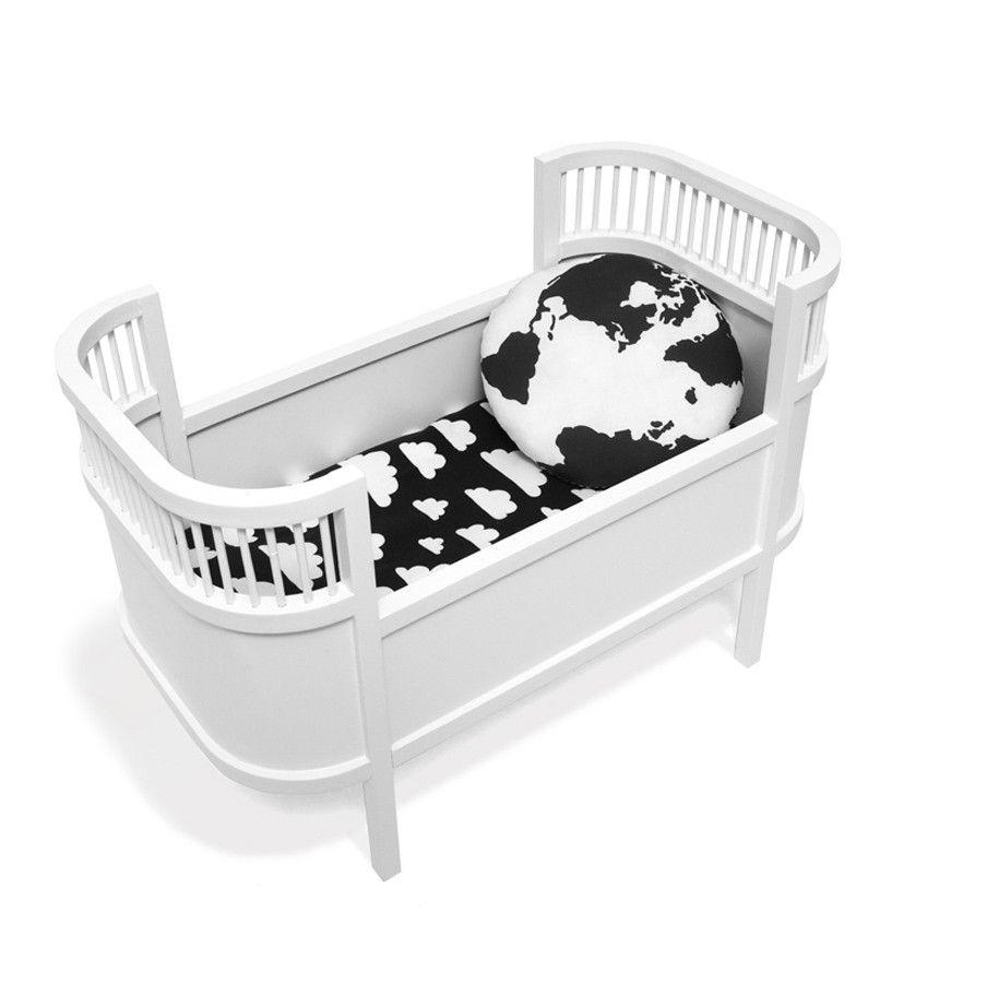 Toy Retro Dolls Bed Mini Crib White Small Crib Mini Crib