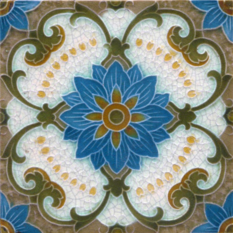 Decorative Ceramic Tile X Inches Illustration Vintage Art - Art deco mosaic tile patterns