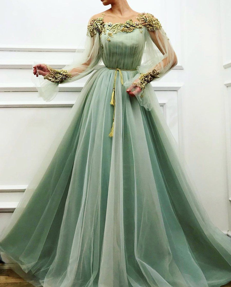 Charming Moss Gown #tulleballgown