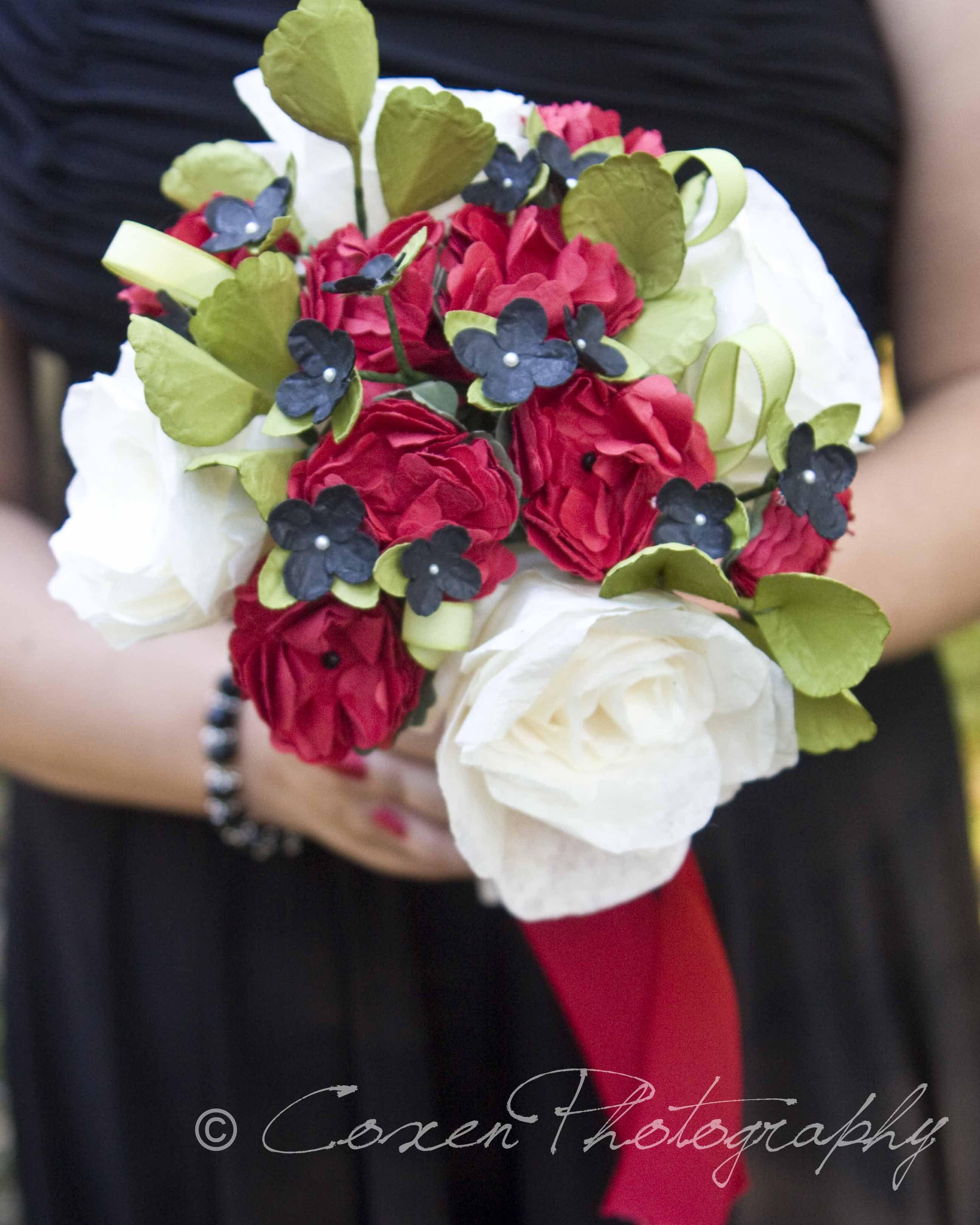 Paper flower Brideus Maid Bouquet  Paper Crafts  Pinterest  Craft