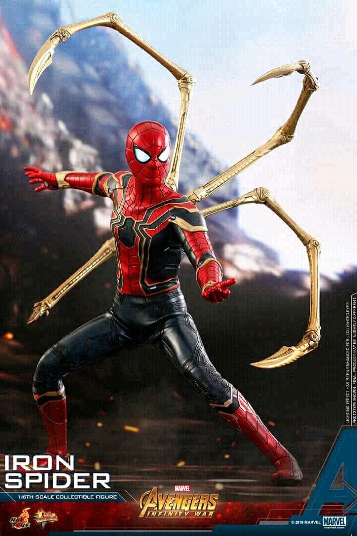 Spiderman hot toys collectible figurine spider hombre for Cuartos decorados hombre arana
