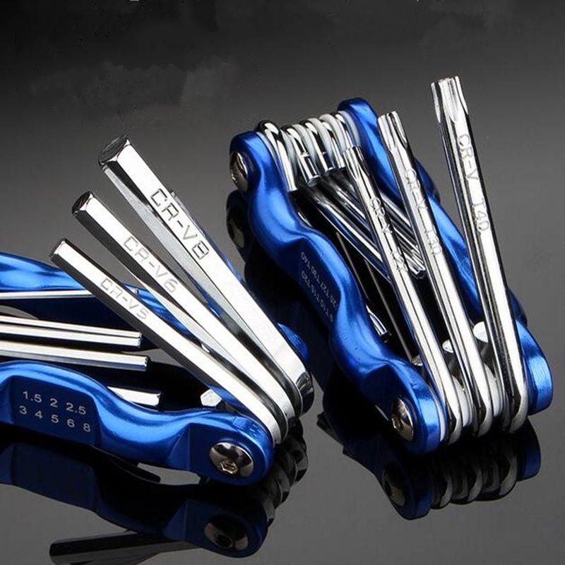 Bicycle Bike Tool kit Allen key spanner Screwdriver Blue