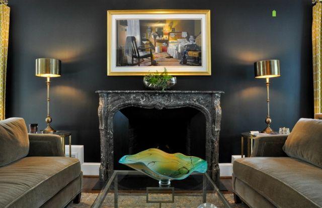 peindre les murs int rieurs dans des couleurs sombres. Black Bedroom Furniture Sets. Home Design Ideas