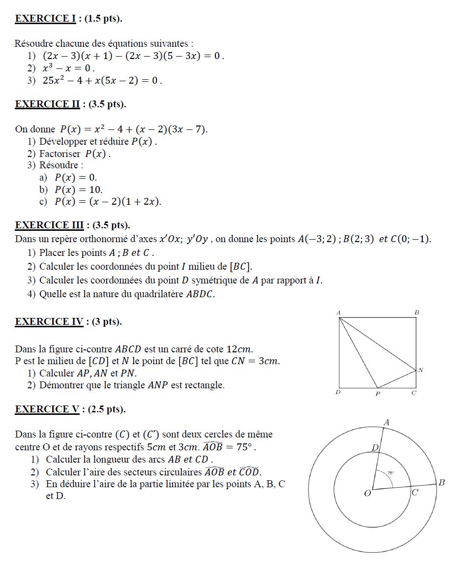 Math Authentique Exercices De Revision Eb8 Math Word Search Puzzle Words