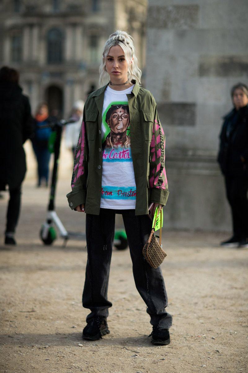 36b21f06b156 Street Style  Virgil Abloh s OFF-WHITE FW19 Show in Paris