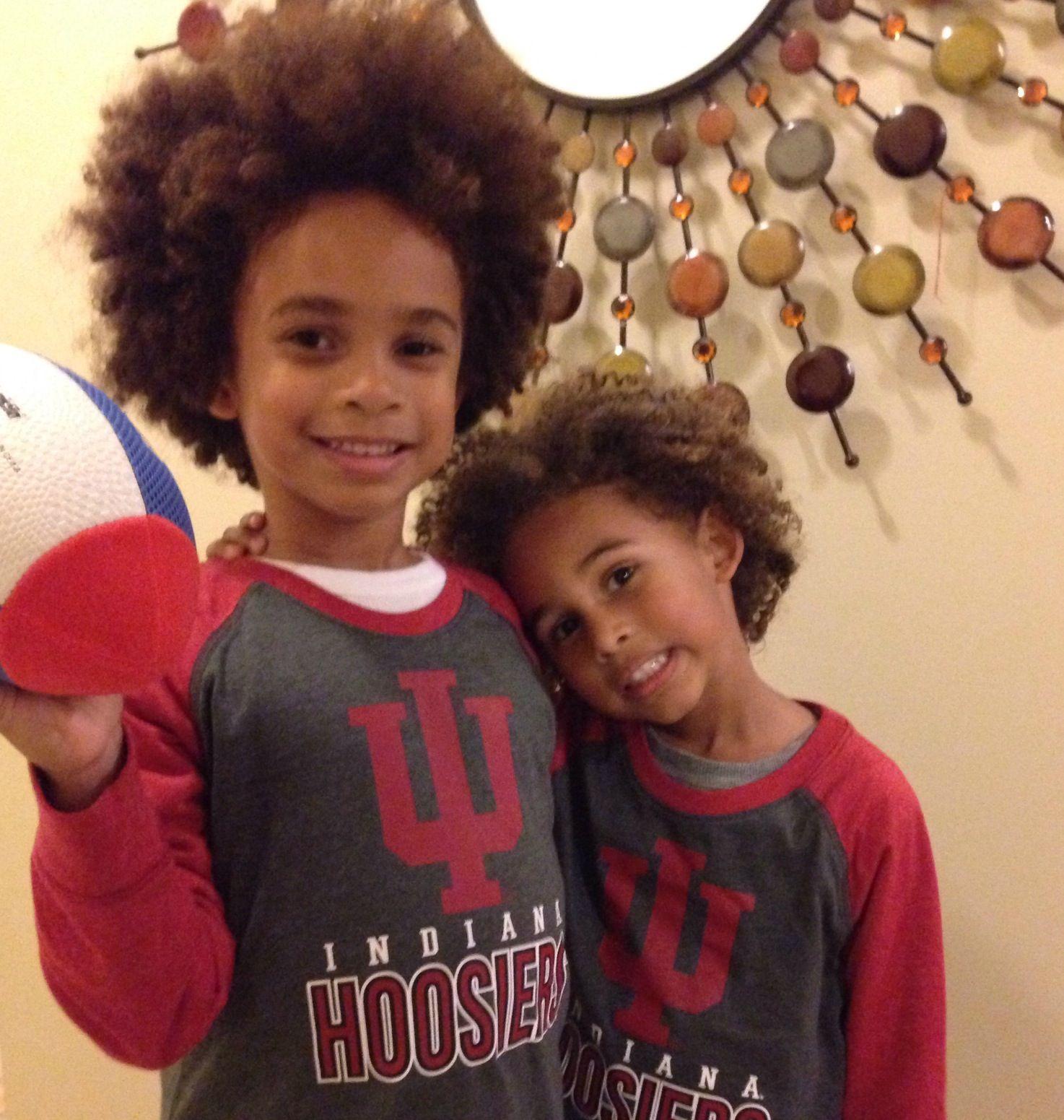Curly hair mixed kids Hoosiers