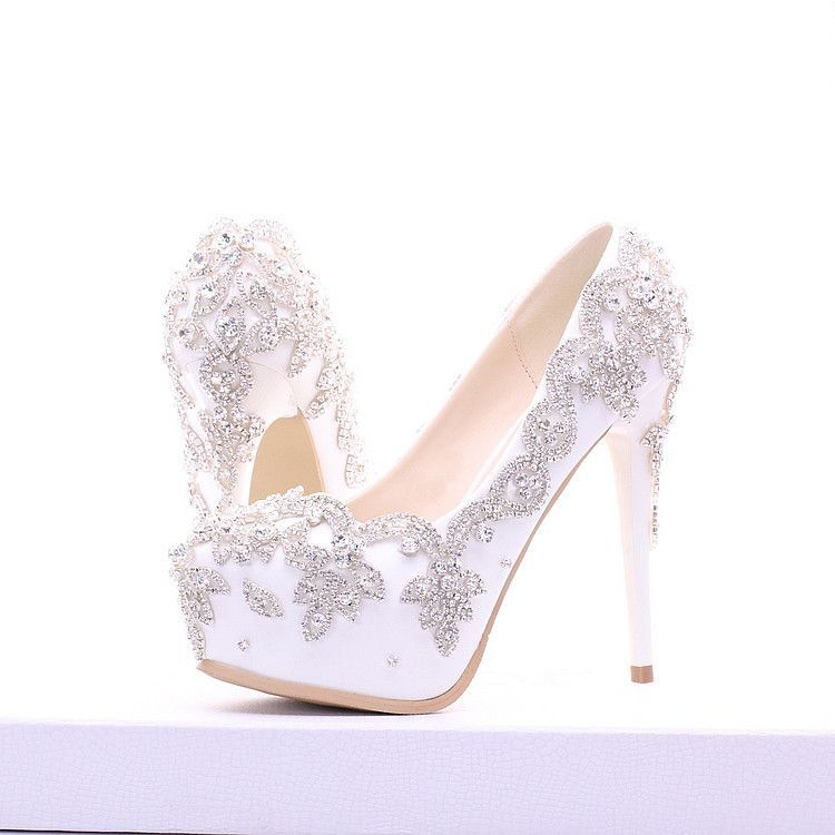 80810709692102 Women s Wedding and Party Rhinestone Crystal Platform High Heels material  is rhinestone