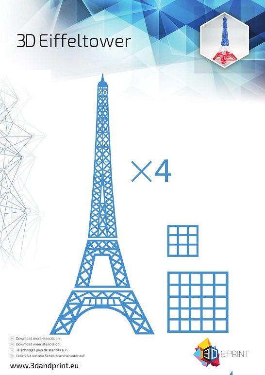 3d Stencil Eiffeltower Impresiones En 3d Boligrafo 3d Tutorial De Hazlo Tu Mismo