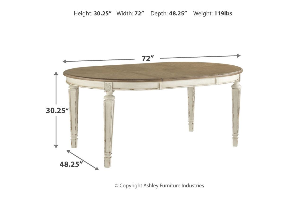 Realyn Dining Room Table Ashley Furniture Homestore Stol