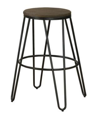 Mandy Farmhouse Bar Stool Set Of 2 Black Natural Elm In 2019 Products Counter Height Stools Bar Stools Stool