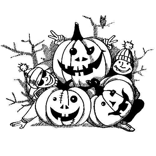 Dibujos de calabazas de Halloween para colorear- printable pumpkin ...