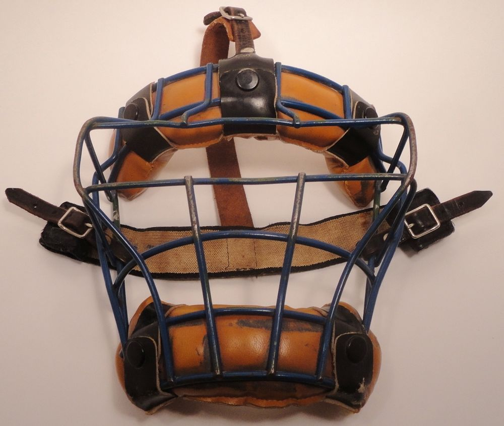 Vintage/Antique Wire & Leather Baseball Catchers Mask Old