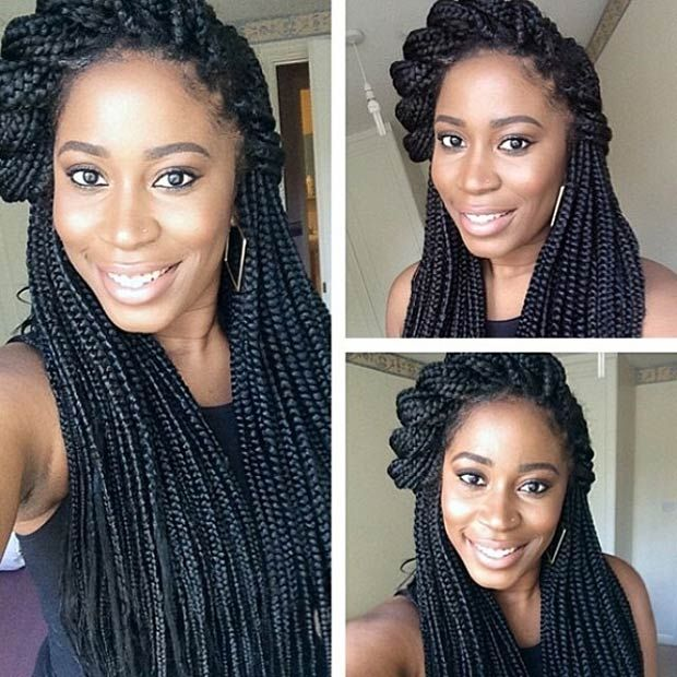 Tremendous 50 Box Braids Hairstyles That Turn Heads Updo Box Braids Hairstyles For Women Draintrainus