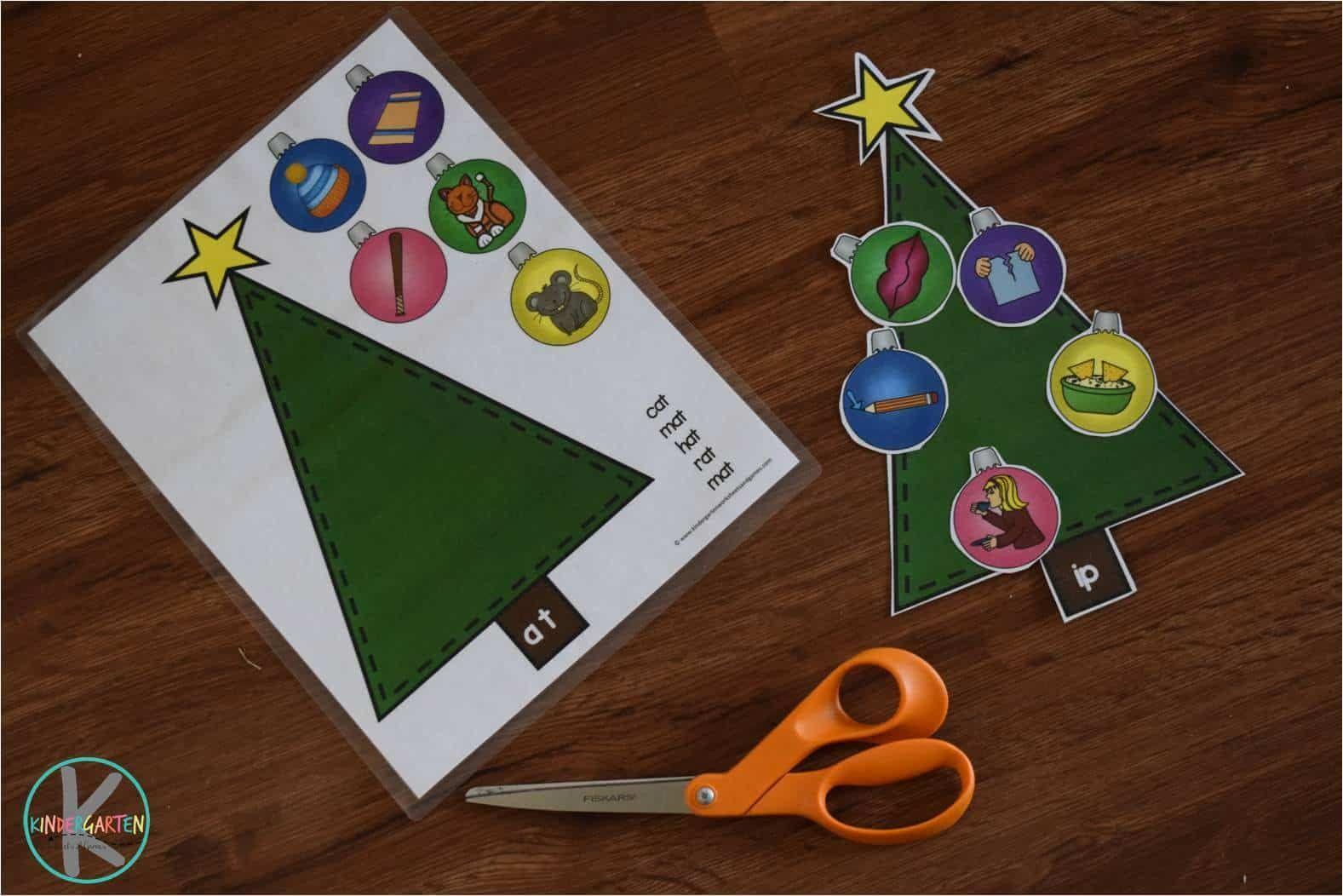 Word Family Christmas Trees