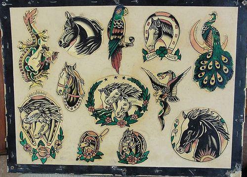 Pawtucket Horses Art Traditional Tattoo Flash Tattoos