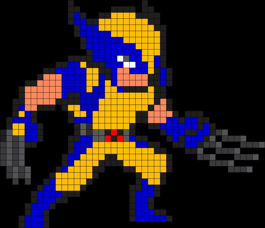 Wolverine Perler Bead Pattern / Bead Sprite | Heroes in
