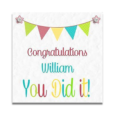 Passed Exam Card Well Done Card Congratulations Card Exam Congratulations Card