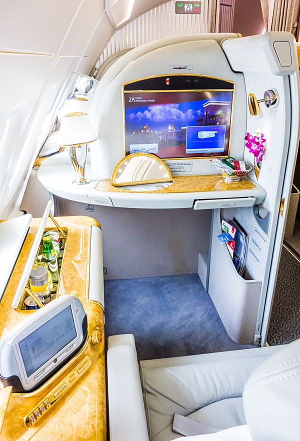 Emirates A380 First Class Amsterdam To Dubai Emirates First