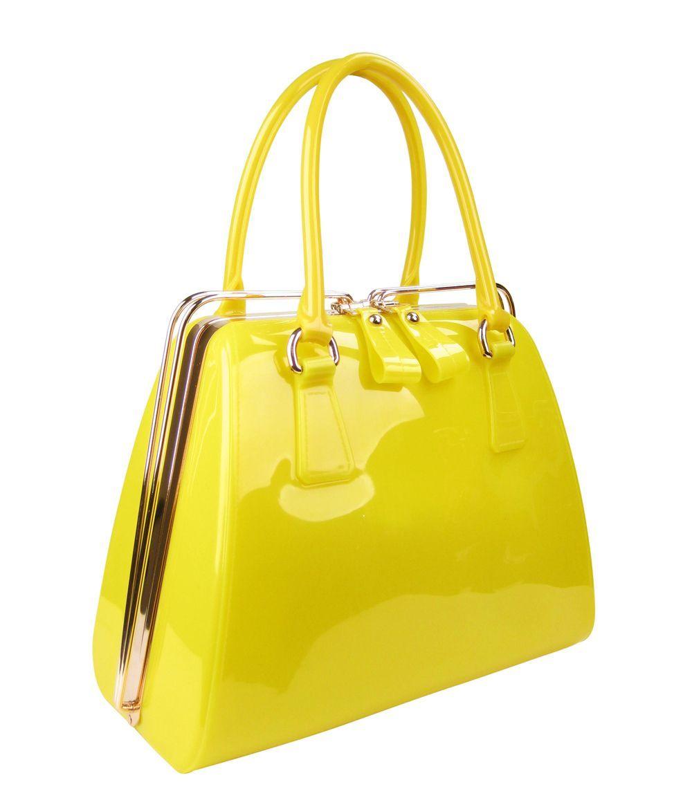 3b4280a6d6 OF - Wholesale Metal Closure Jelly Tote Handbag  wholesalefashionhandbags