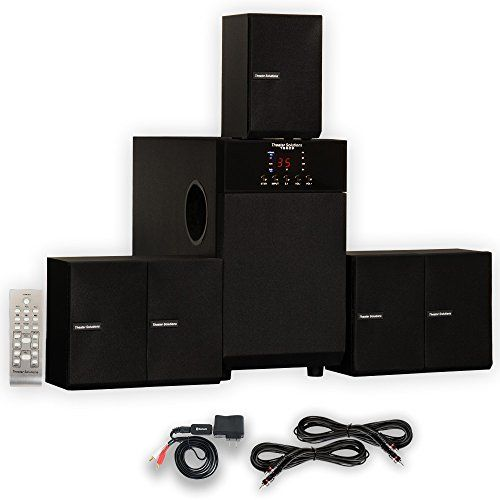 Theater solutions ts home speaker surround system with bluetooth and extension cables review also rh in pinterest