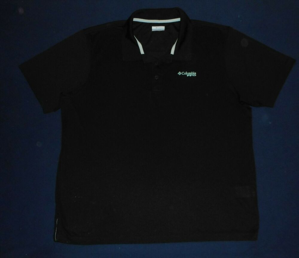8cd682b6795 Columbia PFG Omni Shield Black Solid Fishing Polo Shirt Mens Size 2XL EUC  #fashion #clothing #shoes #accessories #mensclothing #shirts (ebay link)