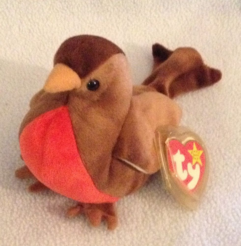 125a62ca34a TY EARLY ~ THE ROBIN bird ~ 1997 HARD TO FIND~ Beanie Baby~ MWMT S ~ RETIRED   TyBeanieBaby