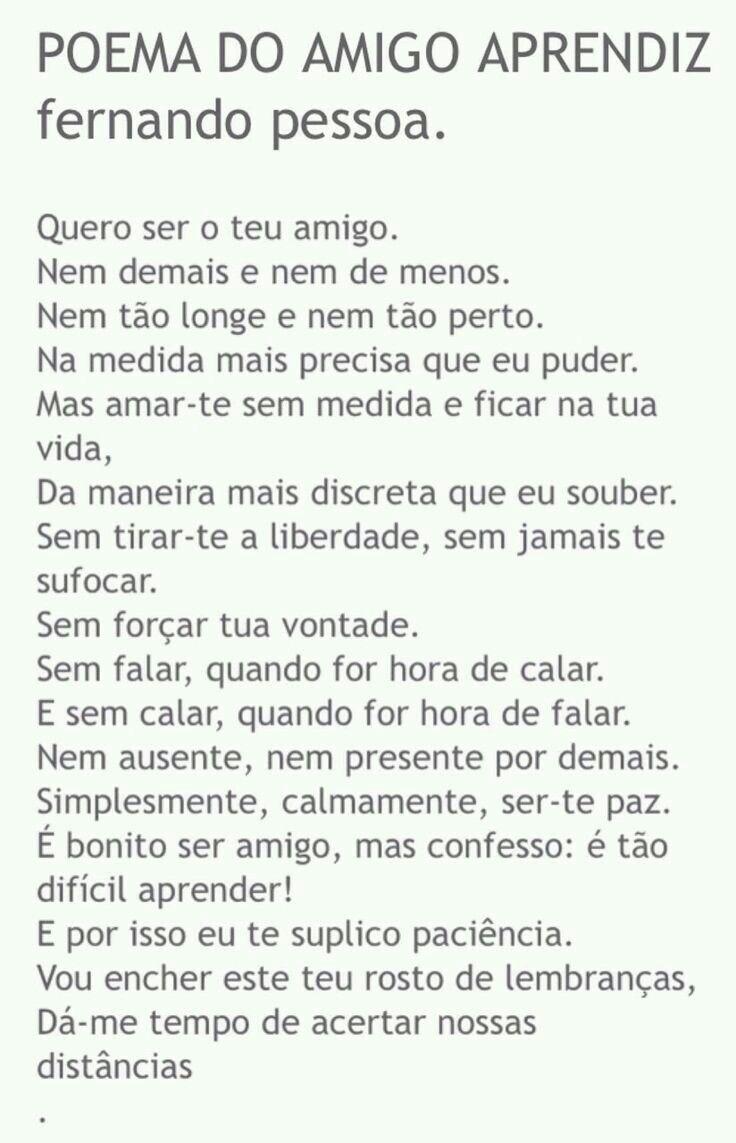 Amizade Poesias 3 Pinterest Fernando Pessoa Quotes E Frases