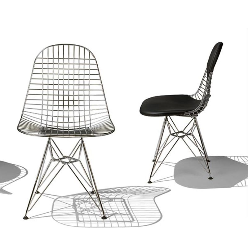 Wire Mesh Chair, Design: Charles And Ray Eames Manufacturer: Herman Miller  Wooden Blackbird Sculpture From The Eamesu0027 American Folk Art Collection