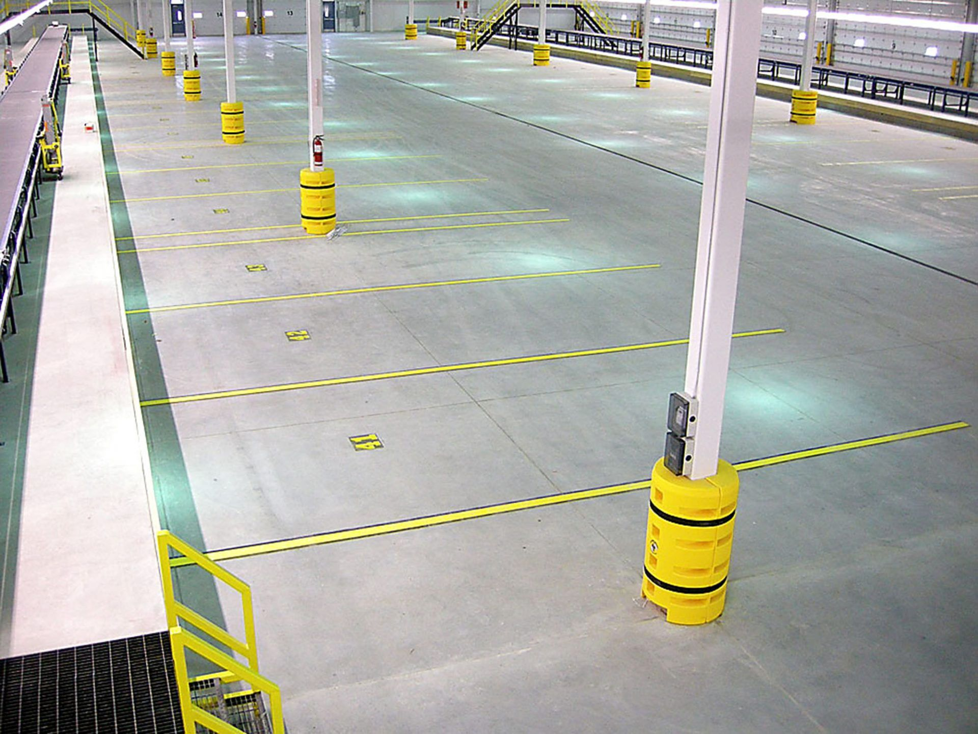 Yellow Safety Lines At Fedex In Markham On Industrial