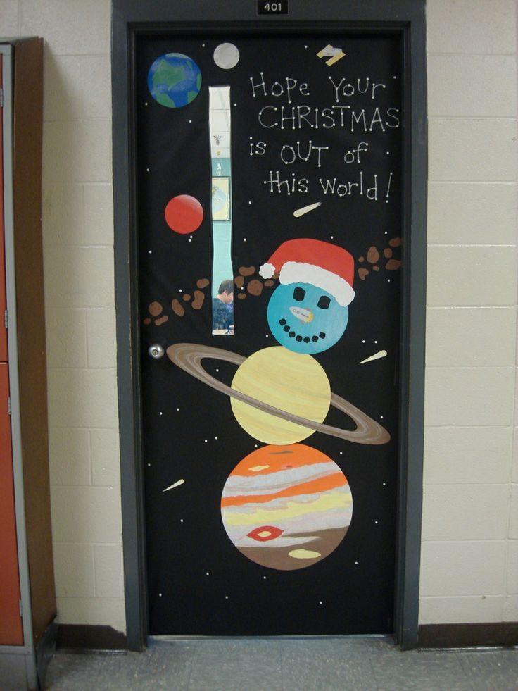 Classroom Ideas Science ~ Christmas door decorating contest and the science